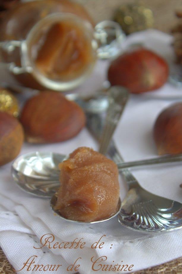 Recette de la cr me de marrons maison amour de cuisine - Dessert a la creme de marron ...