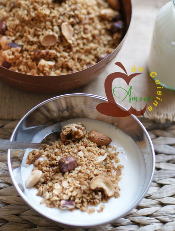 granola maison croustillant
