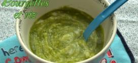 recettes pour bebe: puree de courgettes et riz