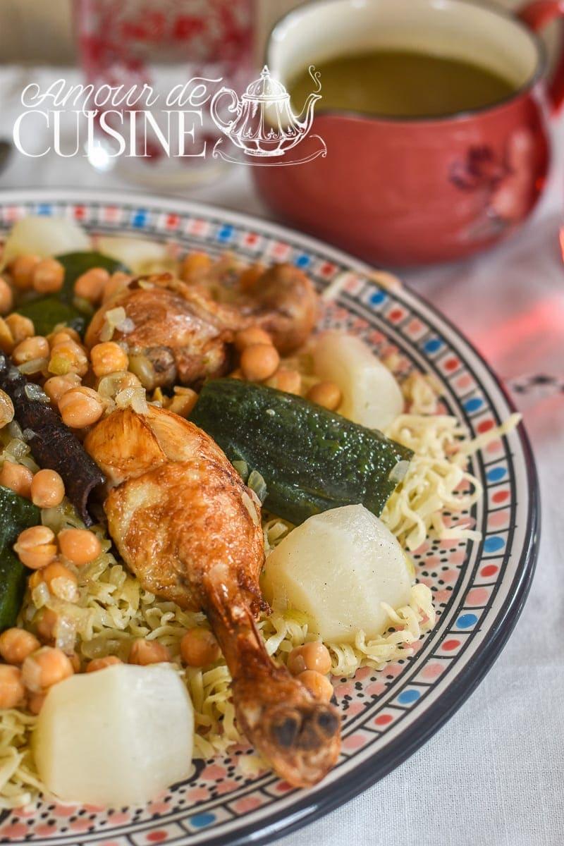 rechta algéroise, cuisine algerienne - amour de cuisine