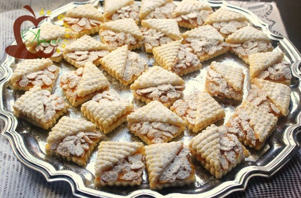 Sabl s fondants abricot amandes amour de cuisine - Decoration gateau traditionnel algerien ...