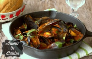 recette de moules a la sauce tomate