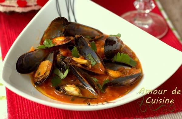 Moules à la provençale-sauce tomate 1