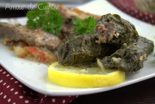 Feuilles de blettes farcies recette libanaise amour de cuisine - Recette amour de cuisine ...