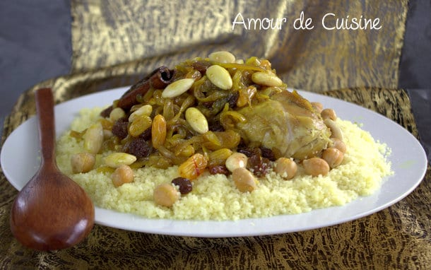 Couscous Tfaya  Choumicha  Cuisine Marocaine Choumicha , Recettes marocaines