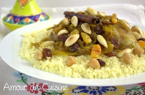 Couscous tfaya aux raisins secs et oignons caramélisés Le Blog cuisine de