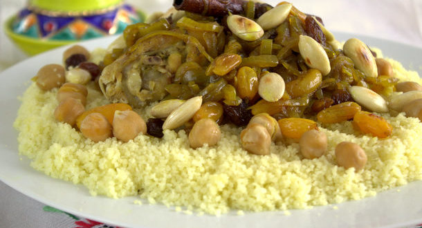 Couscous tfaya – cuisine marocaine
