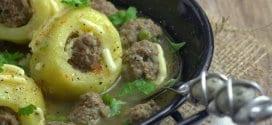 dolma batata: pommes de terre a la viande hachee