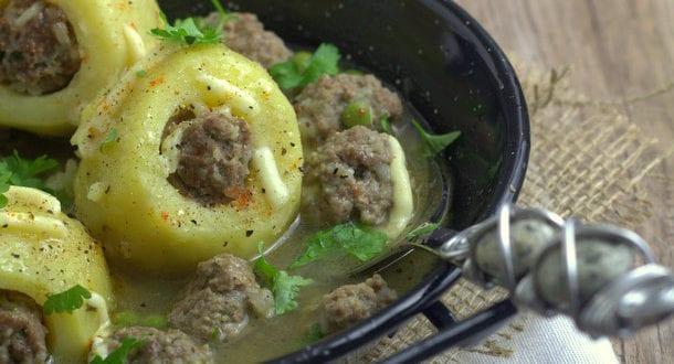 dolma batata: pommes de terre farcies à la viande hachée