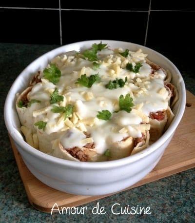 recette de gratin de tortillas a la bolognaise