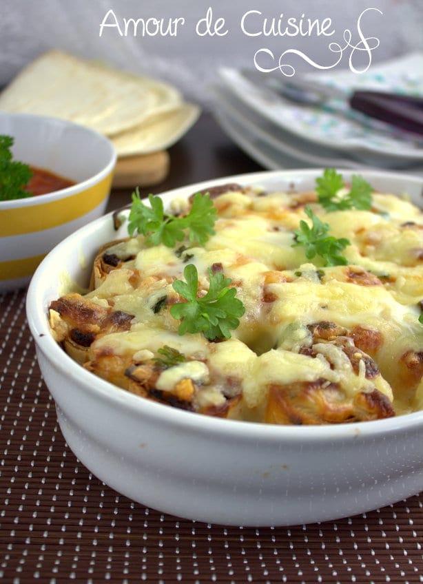 recette gratin de tortillas a la bolognaise