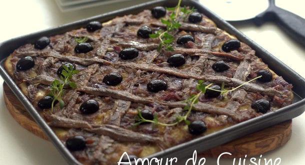 recette pissaladiere aux oignons rouges
