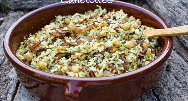 Riz pic aux pois chiches amour de cuisine for Amour de cuisine algerienne