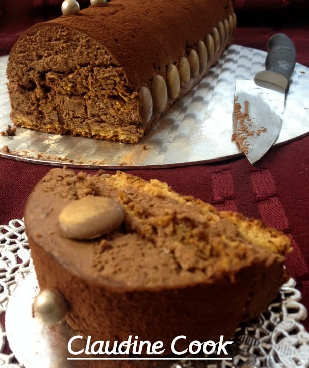 Buche facile dacquoise et mousse au chocolat
