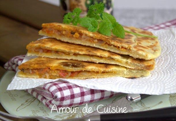 galette kabyle farcie a la chakchouka