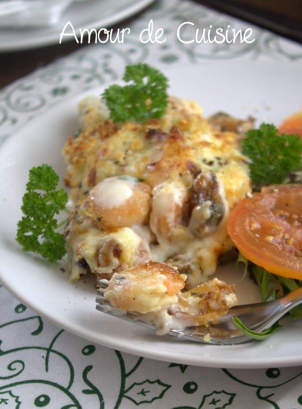 gratin de fruits de mer