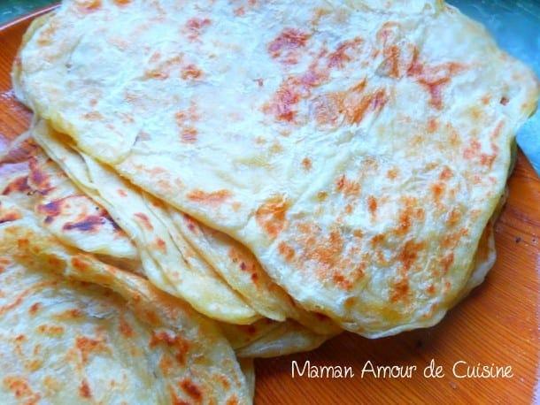 msemen ou crepes feuilletee maarek, madlouka amwarek recette