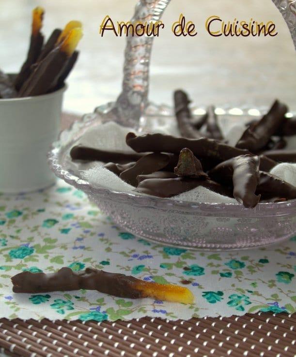 Recette corces d 39 orange confites au chocolat for Amour de cuisine 2014