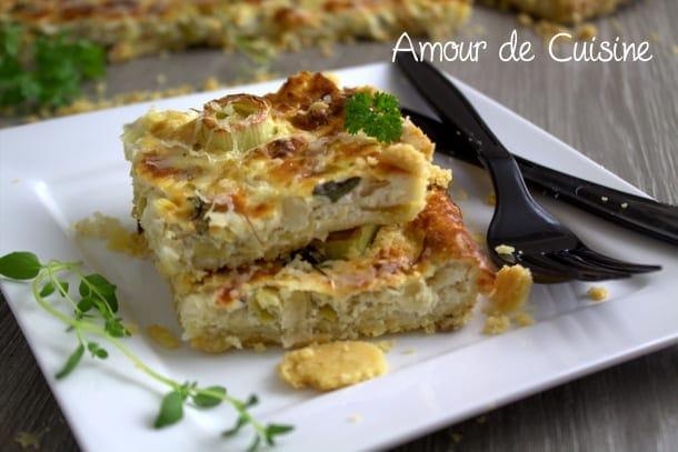 Quiche aux poireaux recette facile amour de cuisine for Amour de cuisine 2014