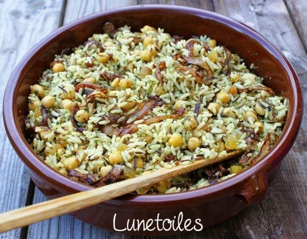 Riz pic aux pois chiches amour de cuisine - Poudre de riz cuisine ...