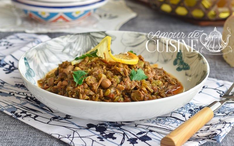 Ragout de feves vertes en sauce tomate cuisine algerienne for Amour de cuisine arabe