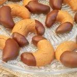 croissants sablés au pralin