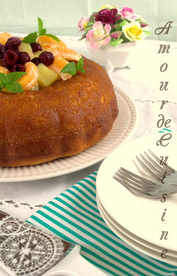 savarin a l'orange sans rhum 1