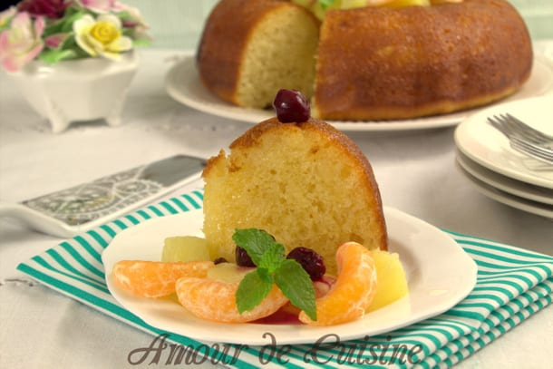 Savarin a l'orange sans rhum