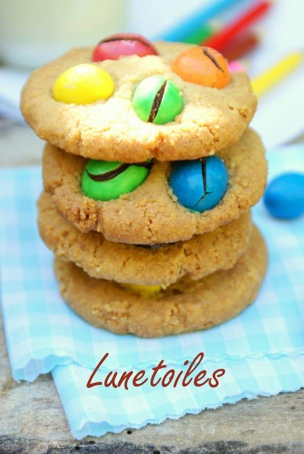 Cookies moelleux aux m&ms