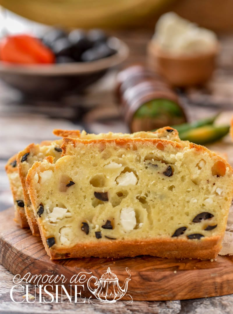cake salé aux olives et féta 1