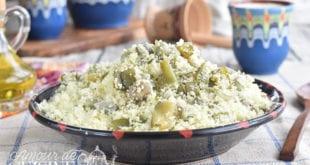 couscous aux feves et l'huile d'olive