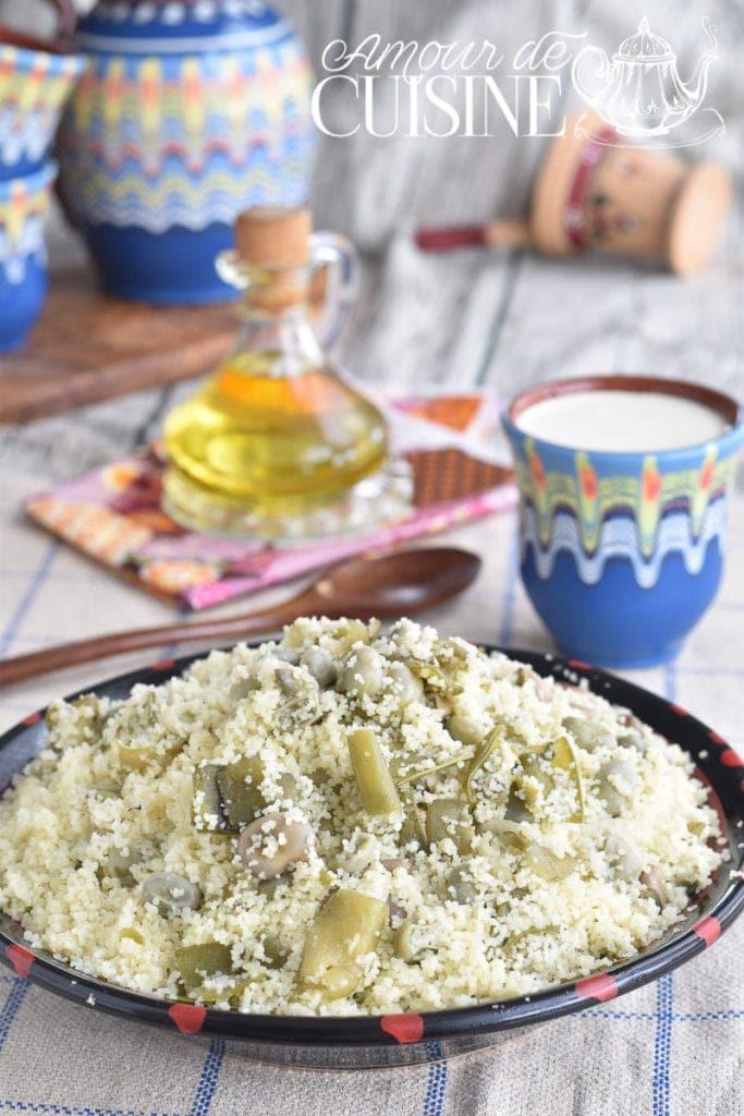 Aghmoudh Couscous aux fèves et huile d'olive 1