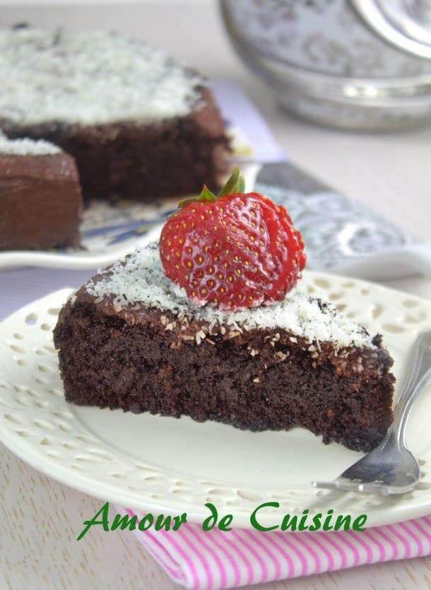 Gateau au yaourt au chocolat amour de cuisine for Amour de cuisine basboussa