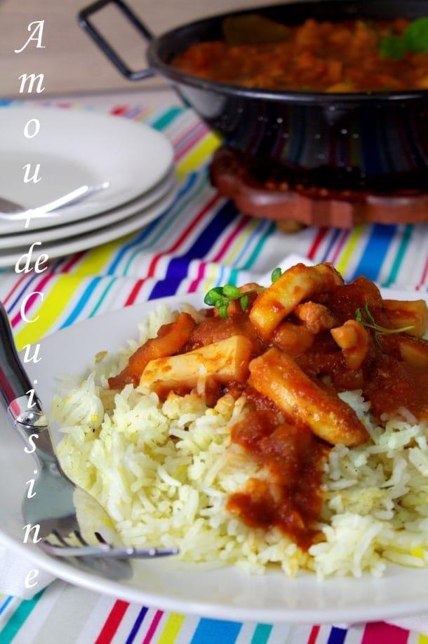 Riz aux calamars en sauce tomate amour de cuisine for 1 amour de cuisine