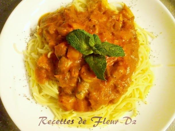 Spaghettis sauce ros e aux crevettes for Amour de cuisine 2015