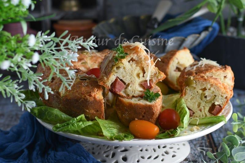 Couronne salée au camembert et basilic