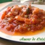 crevettes en sauce tomates