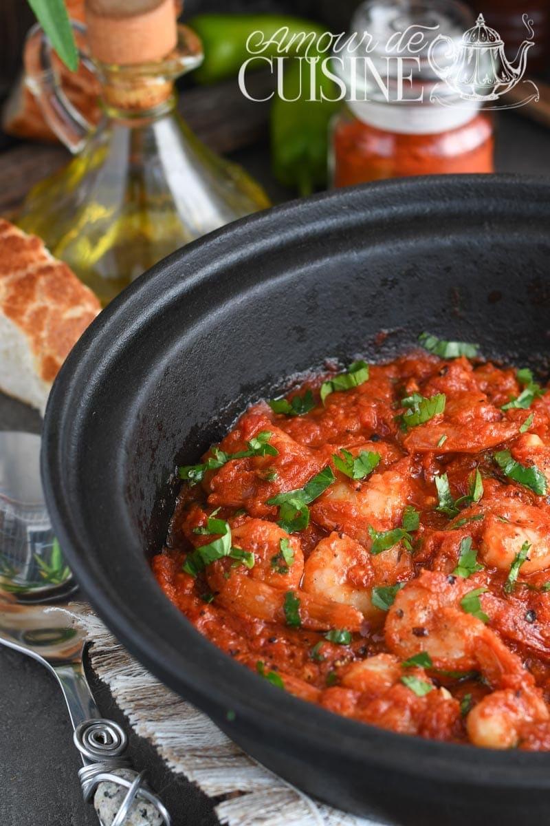 crevette en sauce tomate