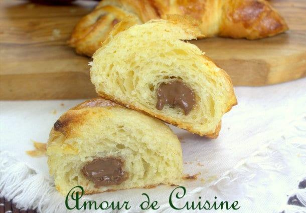 croissants feuilletés au chocolat