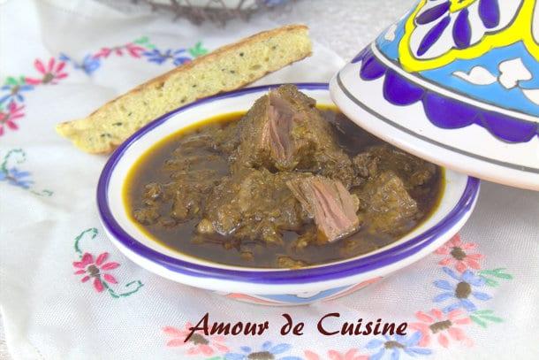 Mouloukhiya ou mloukhia au boeuf for Amour de cuisine 2015