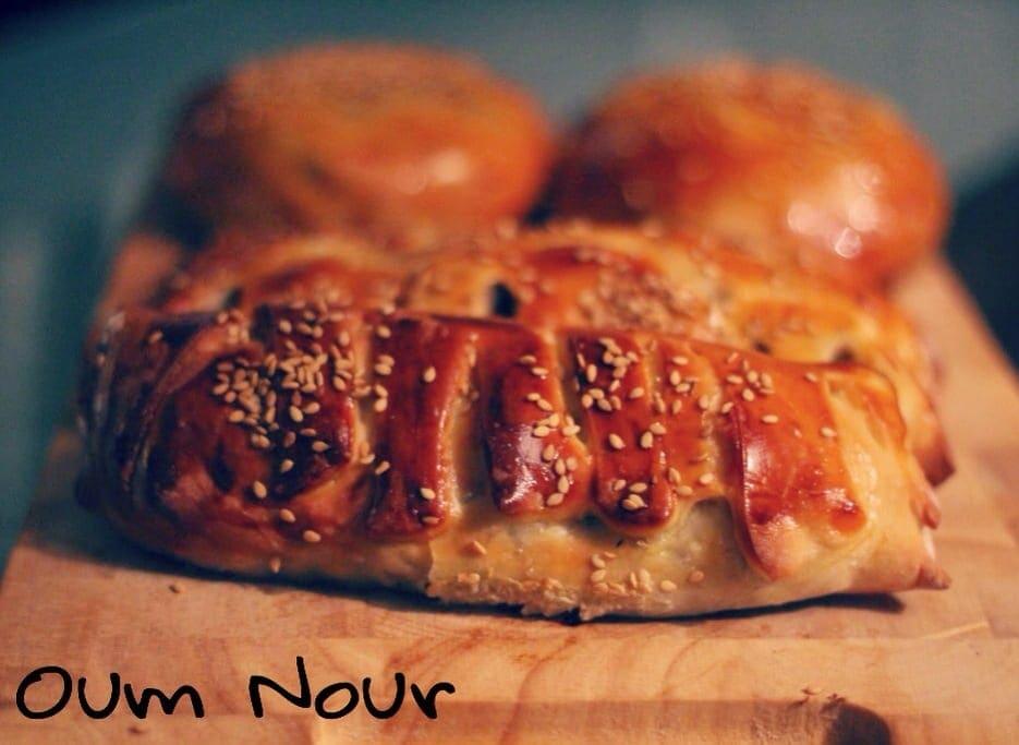 pains a la viande hachee oum nour