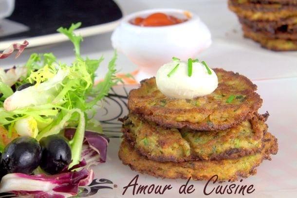 Galettes de courgettes amour de cuisine for Amour de cuisine 2015