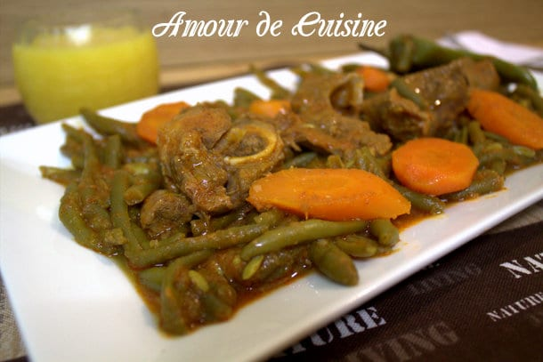 haricots verts a l 39 agneau en sauce amour de cuisine. Black Bedroom Furniture Sets. Home Design Ideas
