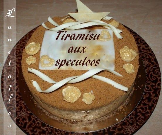 Tiramisu en gateau d'anniversaire