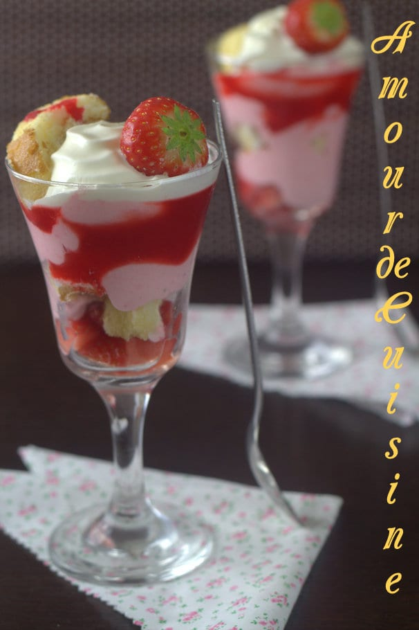 trifles aux fraises