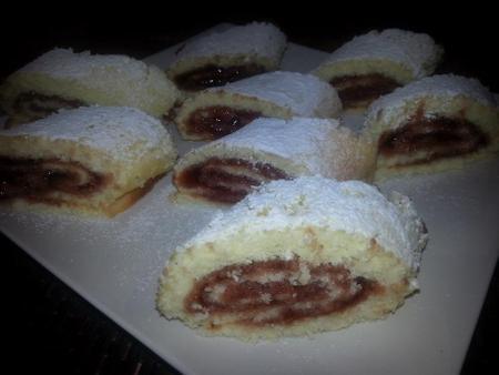 biscuit roulé a la confiture