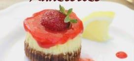 cheesecake en cupcake aux fraises et limonade