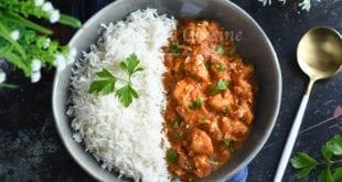 poulet au lait de coco et curry