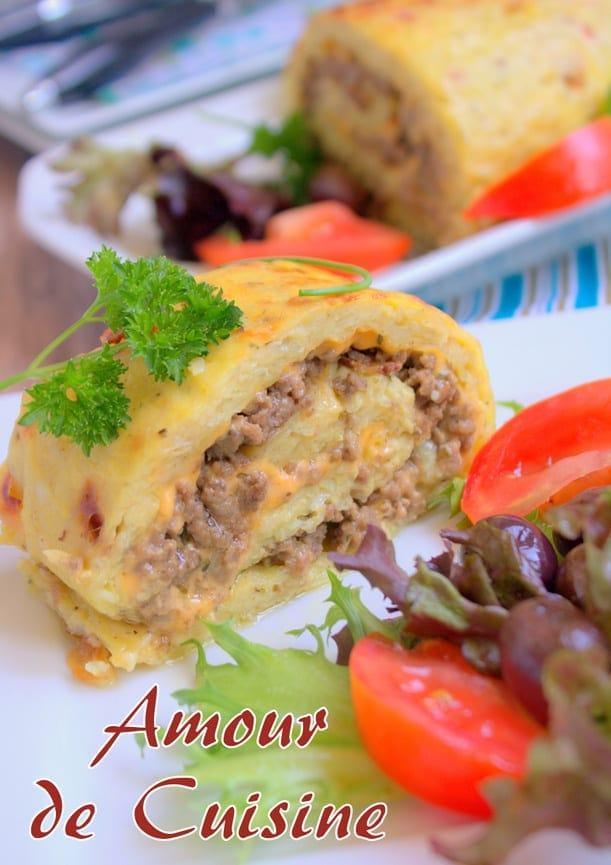 Roul de pomme de terre a la viande hach e amour de cuisine - Recette de cuisine algerienne traditionnelle ...