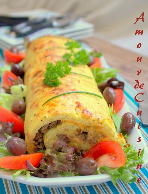 Roul de pomme de terre a la viande hach e amour de cuisine for 1 amour de cuisine